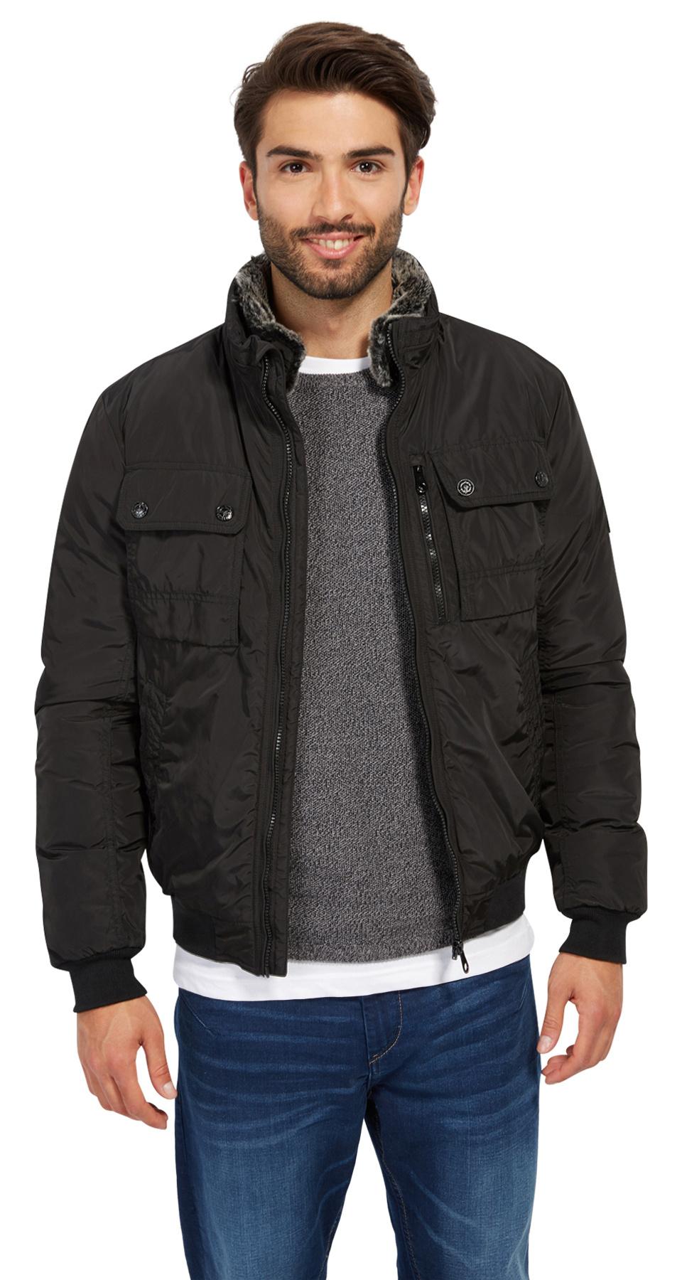 Tom Tailor sportovní zimní bunda 3533471/2999 Černá XL