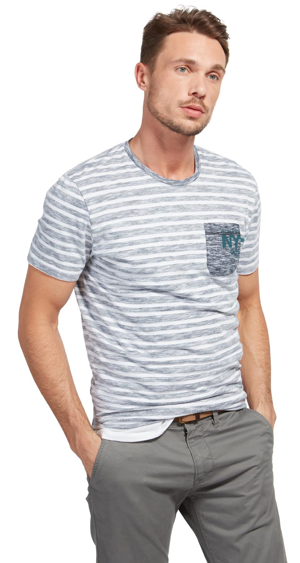 Tom Tailor triko s kapsičkou 1038596/2000 Bílá XXL