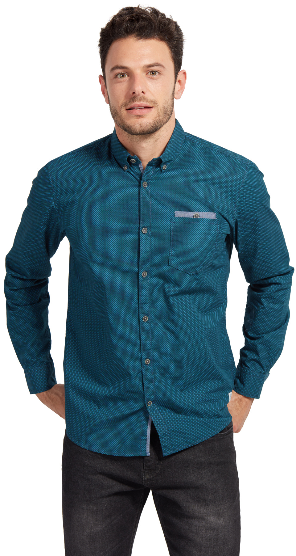 Tom Tailoir pánská košile 20337350010/7812 Zelená XL