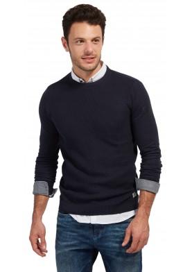 Tom Tailor pánský modrý svetr