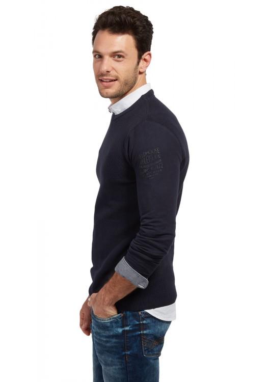 Tom Tailor pánský modrý svetr · Obrázek (1) · Obrázek (2) ... 93d5cfb17f