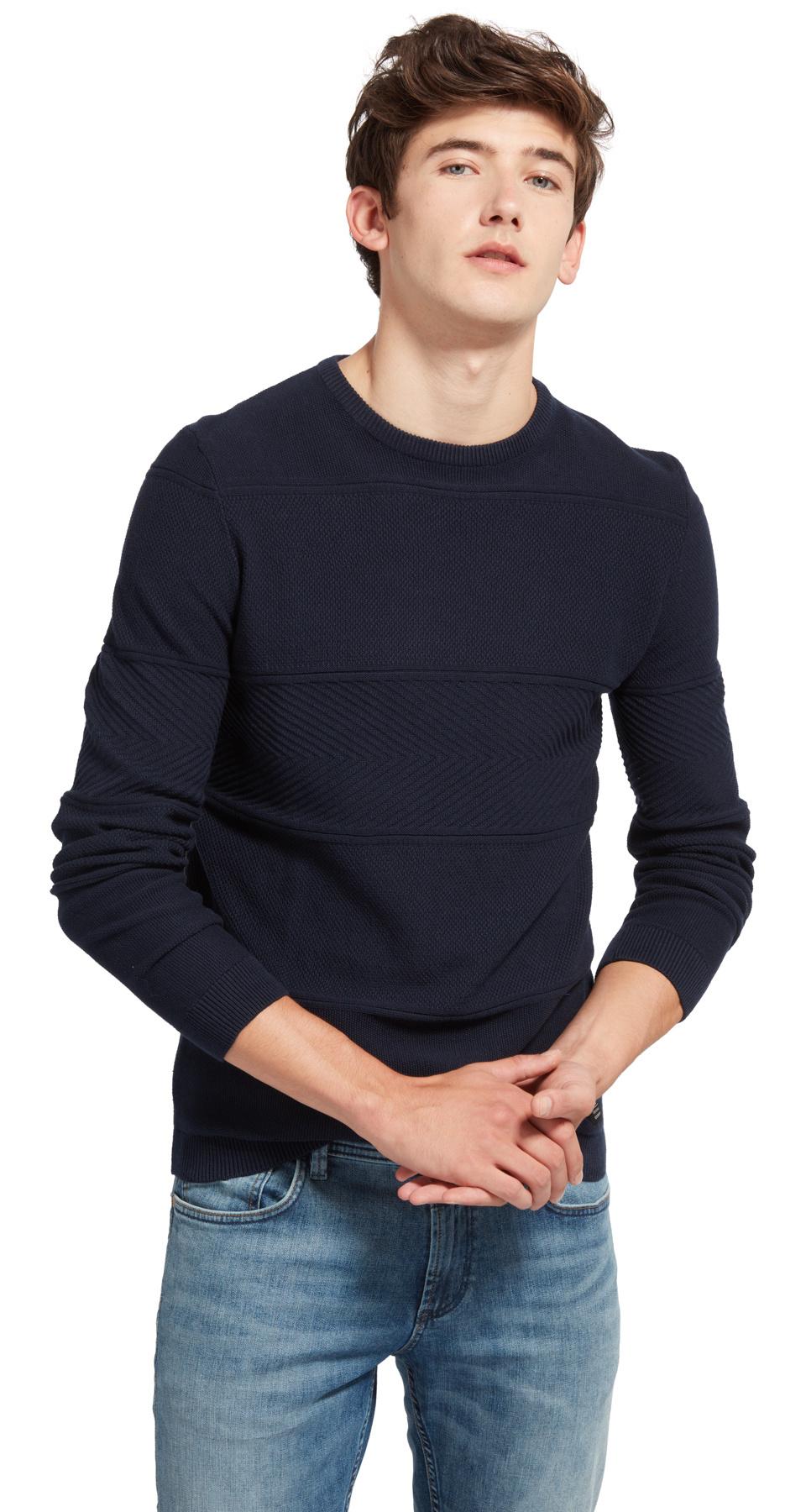 Tom Tailor Denim pletený svetr 30550170010/6800 Modrá XL