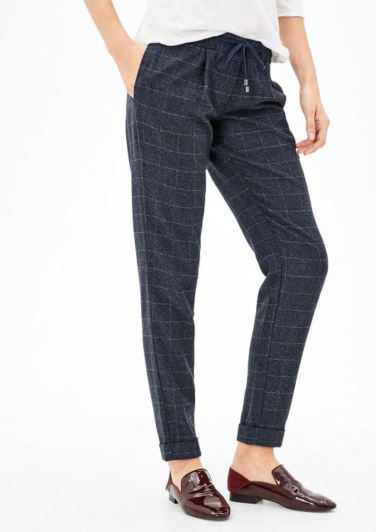 s.Oliver dámské kárované chino kalhoty