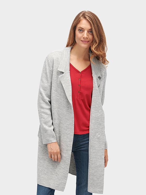 Tom Tailor pletený kabátek 3023022/2527 Šedá S