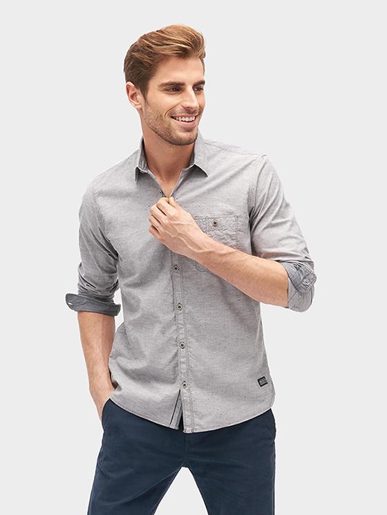 Tom Tailor pánská košile 2033660/2740 Šedá XL