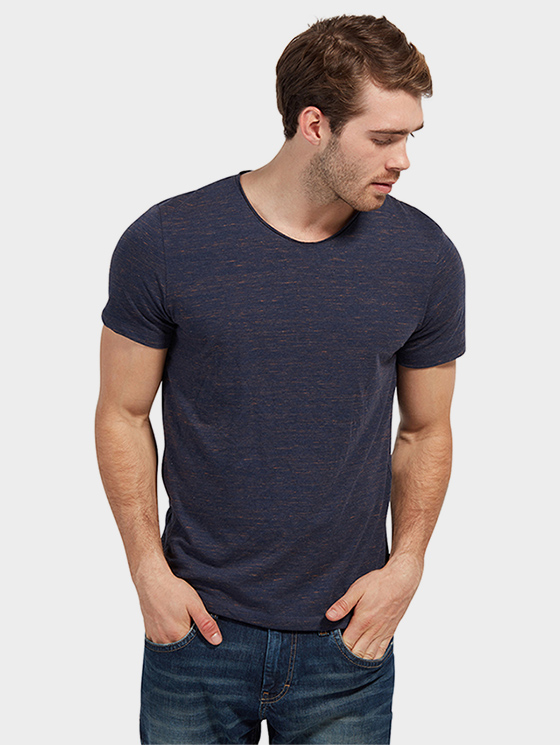 Tom Tailor pánské triko 1038597/6811 Modrá M