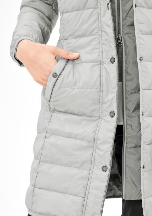 3891cf3c58d Oliver dámský péřový kabát s kapucí šedý · Obrázek (1) · Obrázek (2) ...