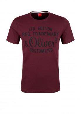 Pánské triko s logem s.Oliver