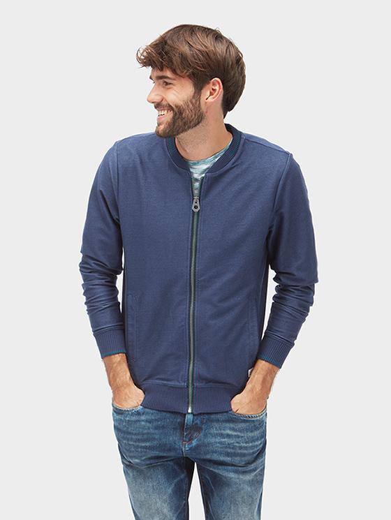 Tom Tailor pánská mikina modá na zip 2531499/6811 Modrá M