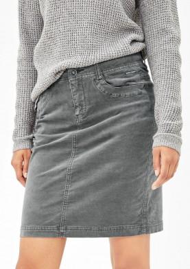 s.Oliver dámská sametová sukně šedá