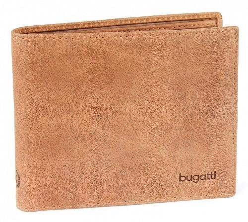 Bugatti pánská kožená peněžnka 49217807 Hnědá