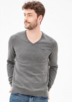 s.Oliver pánský svetr s výstřihem