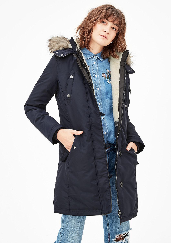 s.Oliver zimní kabát dámský 05.711.52.3683/5959 Modrá 40
