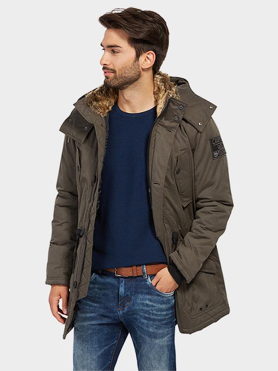 Tom Tailor pánský zimní kabát 35334880070/2151 Zelená M