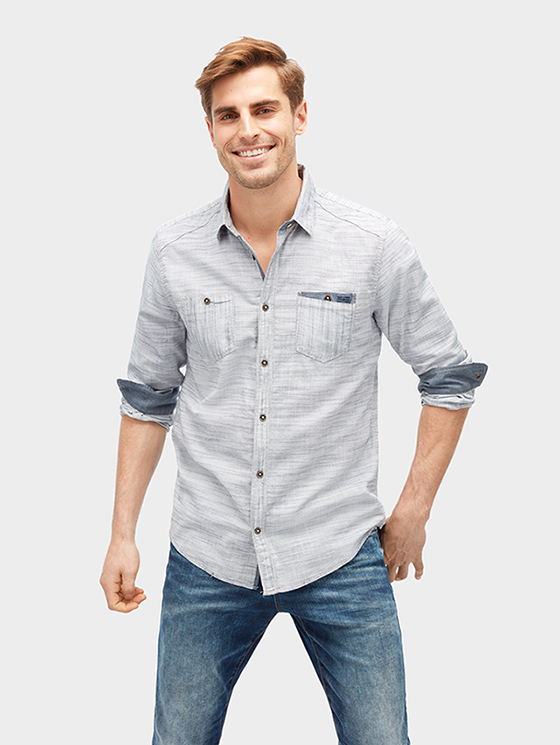 Tom Tailor pánská košile 20338560010/6811 Modrá XL