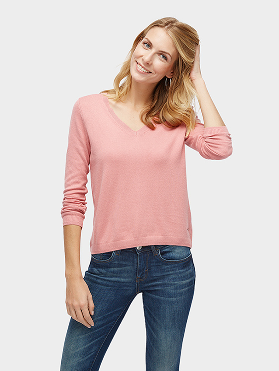 Tom Tailor dámský svetr 3023120010/5467 Růžová XL