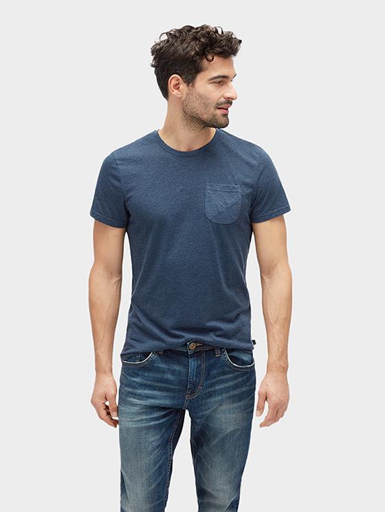 Tom Tailor pánské tričko s kapičkou 10388100010/6811 Modrá XXL