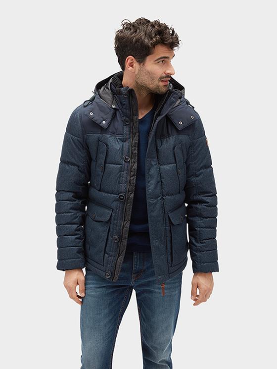 Tom Tailor pánská zimní bunda 35334870010/6800 Modrá XXL