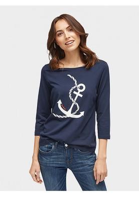 Tom Tailor dámské tričko s kotvou