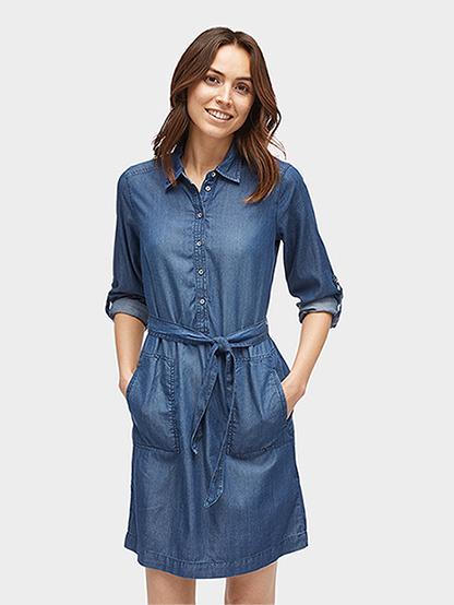 Tom Tailor dámské džínové šaty 5055064/1202 Modrá 38