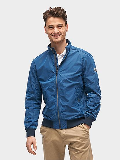 Tom Tailor pánská jarní bunda 3555114/6758 Modrá M