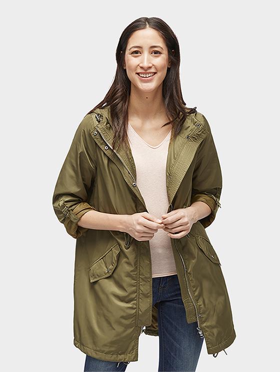 Tom Tailor jarní dámský kabát 355523/7708 Zelená M