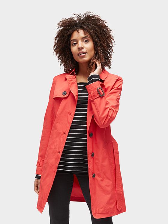 Tom Tailor jarní dámský kabát 3555203/4535 Červená M