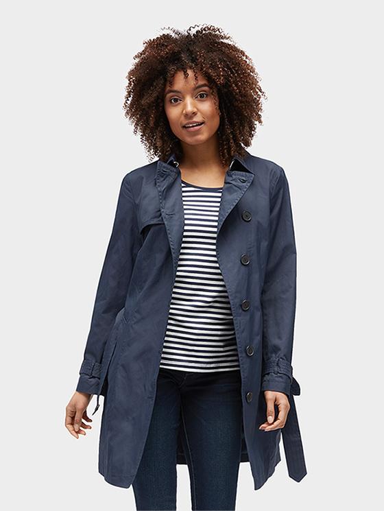 Tom Tailor jarní dámský kabát 3555203/6593 Modrá XL