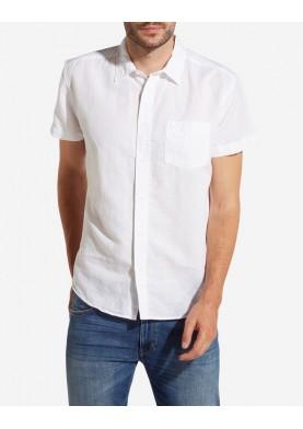 Wrangler lněná košile s krátkým rukávem