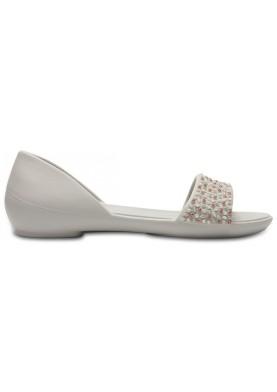 Crocs Lina Emblished Dorsay Silver