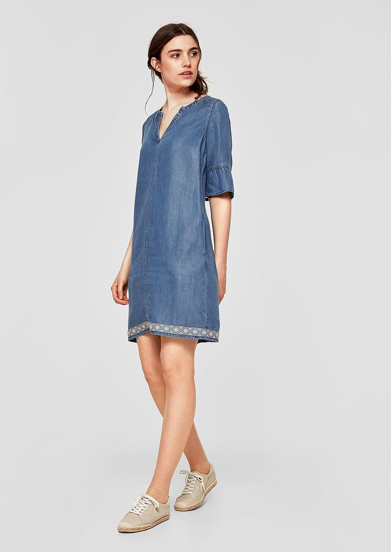 s.Oliver dámské džínové šaty 14.805.82.7825/53Y4 Modrá 34