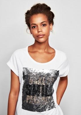 s.Oliver Q/S tričko s třpitivým efektem