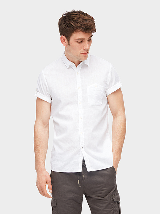 Tom Tailor Denim pánská košile 100330/2000 Bílá L