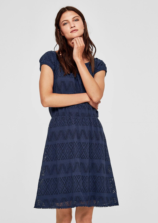 s.Oliver dámské šaty 14.805.82.7767/5835 Modrá 36