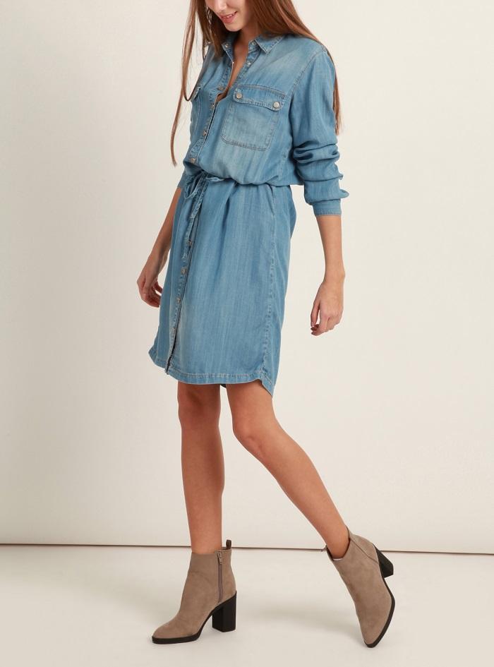 Mavi dámské džínové šaty 130553-26000 Modrá S