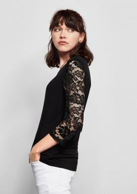 s.Oliver Q/S dámské triko s krajkou