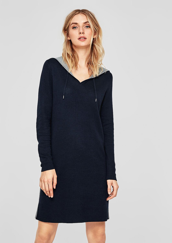 s.Oliver dámské šaty z úpletu 14.809.82.8623/5959 Modrá 36
