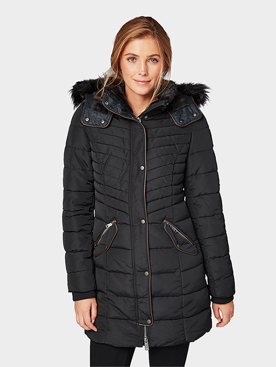 Tom Tailor dámský zimní kabát 35554480070/2999 Černá XXL