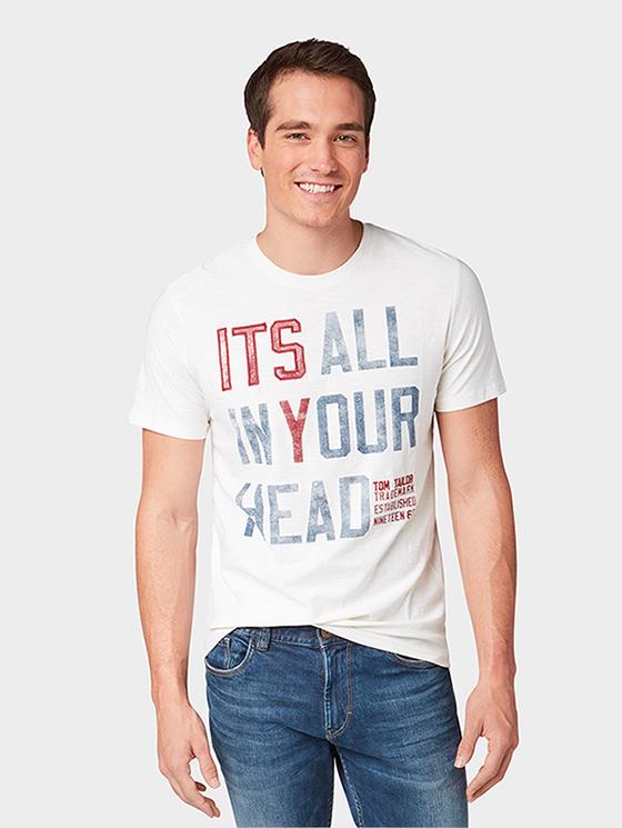 4f7728dfae8 Tom Tailor pánské tričko 1006045 12906 Bílá L