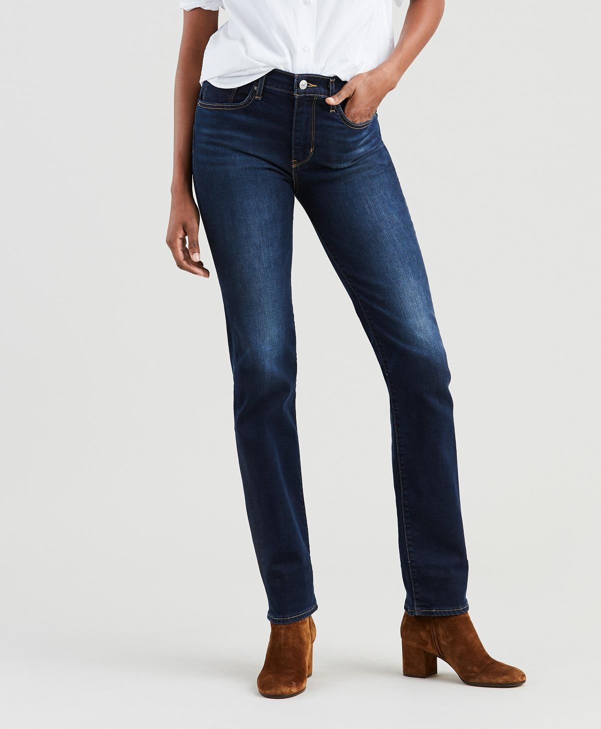 Levis dámské džíny 724 Straight 18883-0009 Modrá W28/L30