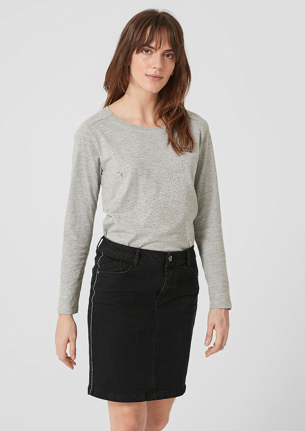 s.Oliver dámská džínová sukně 14.810.79.8350/99Z4 Černá 34