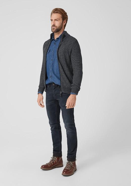 s.Oliver pánský svetr se zipem
