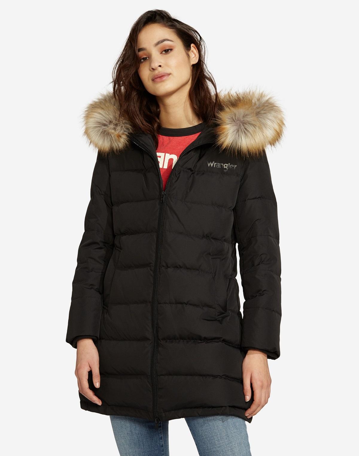 Wrangler dámský zimní kabát W4126VJ01 Černá L