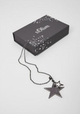 s.Oliver dámský řetízek s přívesky ve tvaru hvězd