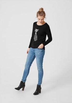 s.Oliver dámské triko s potiskem kočky