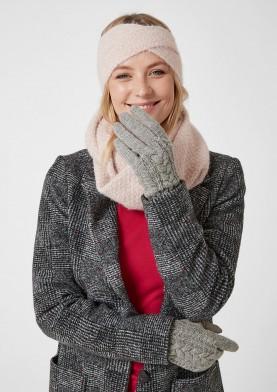 s.Oliver dámské vlněné rukavice s kůží