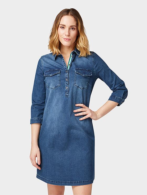 22ae965082 Tom Tailor dámské džínové šaty 1008770 10282 Modrá 36