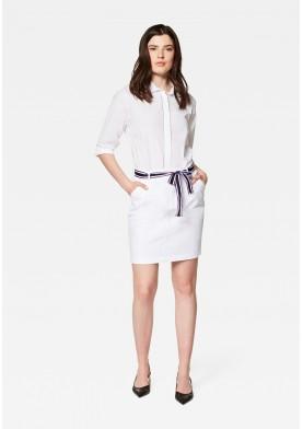 Mavi dámská sukně s barevným páskem