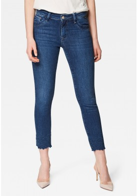 Mavi dámské kotníkové džíny s výšivkou