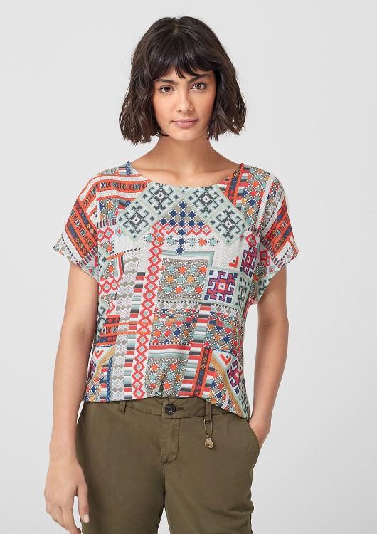 s.Oliver dámské triko v halenkovém stylu